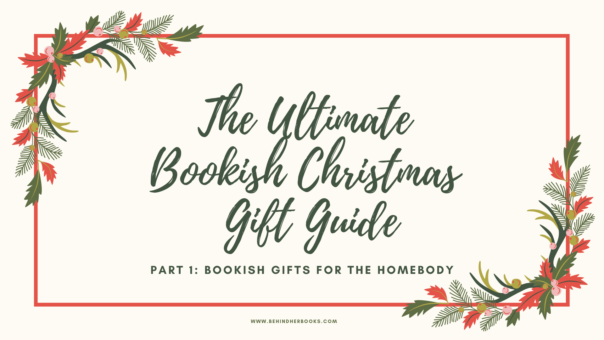 Bookish Gifts for the Homebody